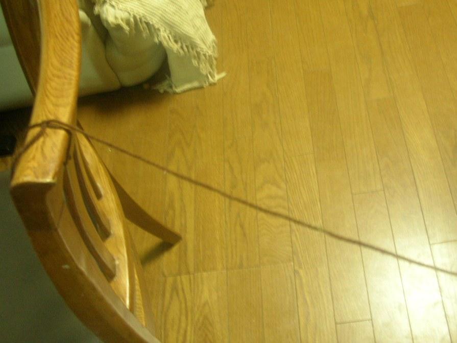 毛糸をむすぶ