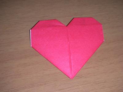 ハート  折り紙 折り方